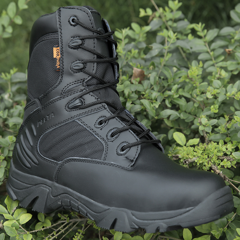 Men Tactical Military Army Boots Summer Breathabale Waterproof Leather Desert Work Shoes Men's Combat Ankle Boot Male Boots