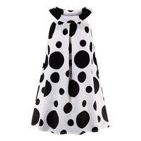Sisjuly Women Casual Dress White Elegant Sleeveless Tank 1960s Vintage Dress Black Polka Dots O Neck