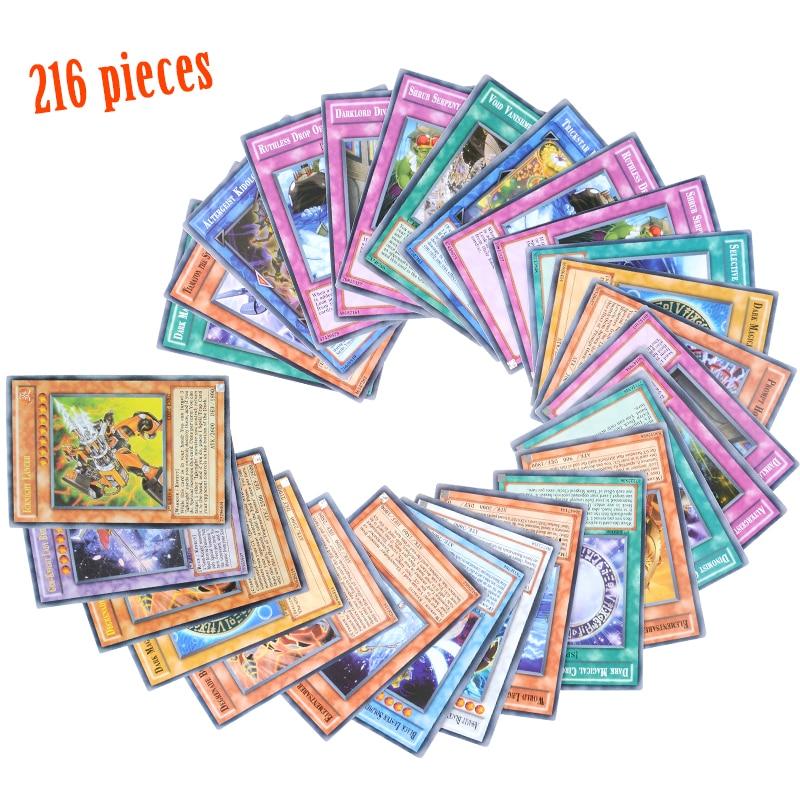 Yugioh 216 шт набор с коробкой yu gi oh Аниме игровая коллекция карт детские игрушки для мальчиков