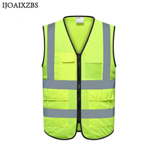 High Quality Visibility Reflective Vest Working Clothes Motorcycle Cycling Sports Outdoor Safety Clothing Commission
