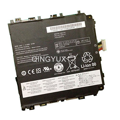QINGYUX Nouveau 3.8 V 21Wh 45N1716 45N1717 batterie d'ordinateur portable pour Lenovo IBM Thinkpad 8 1ICP4/56/97-2