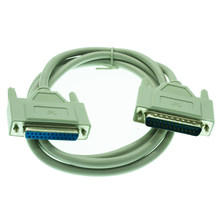 25Pin DB25 Parallel Male to Female LPT Printer DB25 M-F Cable 1.5M computer cable Printerextending Cable 25-Pin(China)