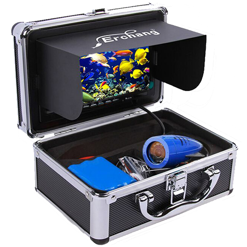 Erchang 15M 1000TVL Fish Finder Underwater Ice Fishing Camera 7' Monitor Infrared Lamp Underwater Camera For Fishing xanes a6s