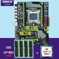 HUANANZHI X79 <font><b>Pro</b></font> Материнская плата с двумя M.2 слот скидка материнской платы с Процессор Intel Xeon E5 2690 C2 2,9 ГГц Оперативная память 32G (4*8G) RECC