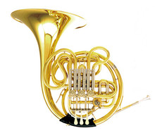 F/Bb Double French Horn Brass Instruments 4 Valves One-piece Bell with Case and mouthpiece