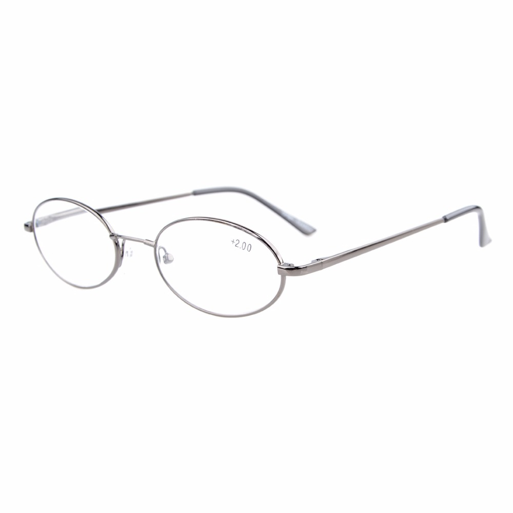 R1643 Eyekepper Titanium Minne Bridge Spring gångjärn Oval Reading Glasses Män Kvinnor +0.00 ---- + 4.00