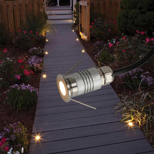 Led Deck Light 12v 1w Waterproof Buried Lamp Outside Recessed Stair Step Wall Spotlight Underground Terrace Floor Kit