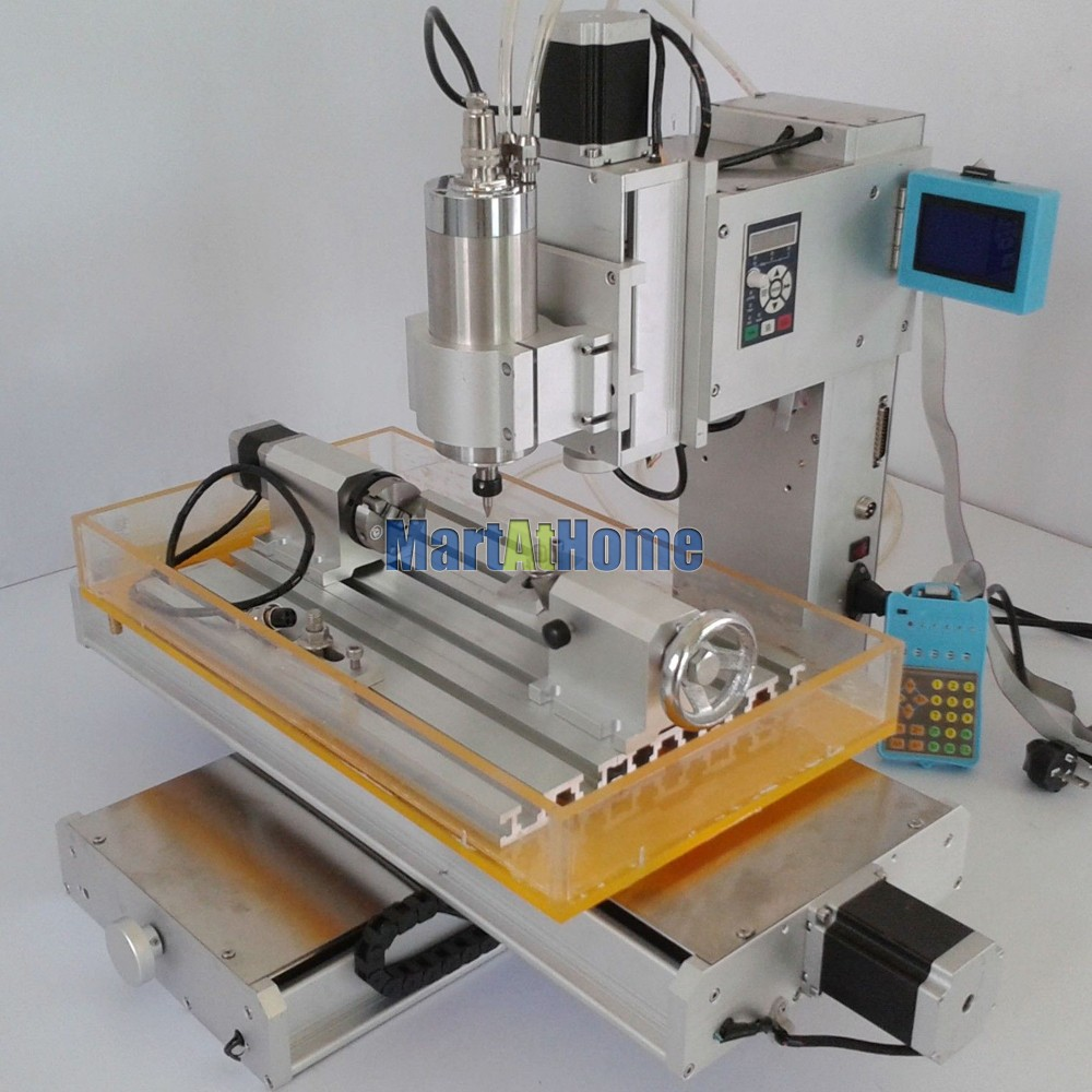 High-precision 1.5KW 4 Axis 3040 CNC Engraving Router Machine Table 110V/220V AC with 1500KW VFD Inverter and LCD #SM712 @SD  high precision table moving 4 axis cnc mini router 3 axis mini cnc router metal engraving machine 3030 4040 6060
