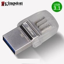 Kingston USB Flash Drive 32 ГБ флешки памяти cle USB 3.1Type-C USB 3.0 memoria Stick Micro USB 32 ГБ для смартфонов накопитель