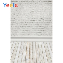 Yeele White Brick Wall Wooden Floor Portrait Baby Photography Background Customized Photographic Backdrop Props For Photo Studio