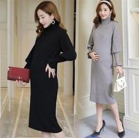 Pregnant women spring winter knit dress Pregnant women tight skirt high elasticity maternity Dress for Pregnant Women Pregnancy