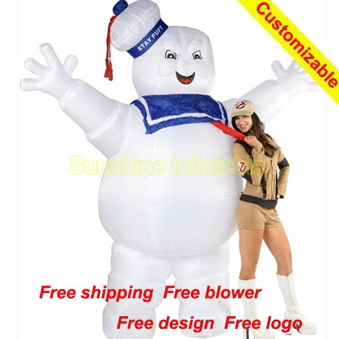 Adulto Uomo Ghostbusters Halloween Gonfiabile MARSHMALLOW Man Costume