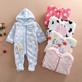2016 Fashion baby boys Romper winter/autumn Baby Girl infant cartoon Animal Rompers Coral fleece/cotton Baby Clothing Jumpsuit