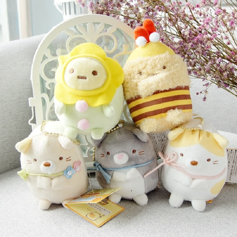 Cute Cartoon San-x Sumikko Gurashi Japanese Anime Toys Corner Bio Handheld Biological Soft Stuffed Plush Toy Pendant Doll Gifts