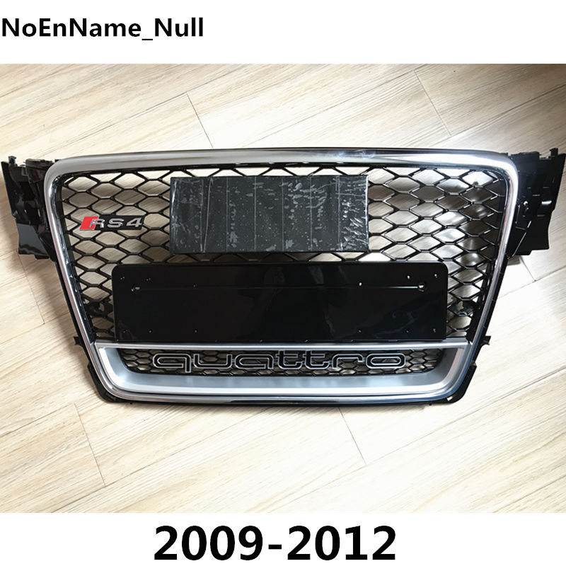 RS4-Styling A4 B8 Grill ABS Black Painted Front Honey Mesh Grille for Audi A4 S4 RS4 B8 Sedan / Coupe / Convertible 2009-2012