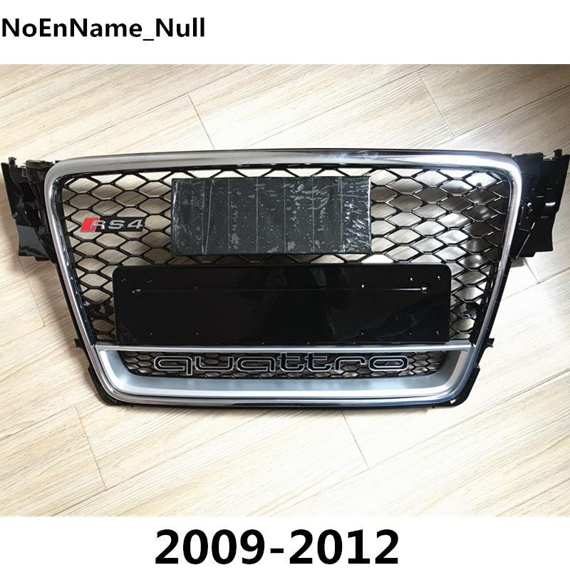 RS4-Styling A4 B8 Grill ABS Noir Peint Avant Miel Mesh Grille pour Audi A4 S4 RS4 B8 Berline/Coupé/Cabriolet 2009-2012