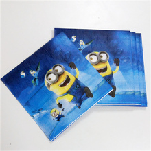 20pc/bag minions Birthday Party Decoration Napkin and party supplies for girls