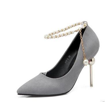 2017 lavanda Negro Zapatos gris Con Sexy Y rojo Junshanangel Nocturno Otoño De Club Primavera Puro Tacón Fino Terciopelo Mujer Nuevos Color Alto rURxwrn