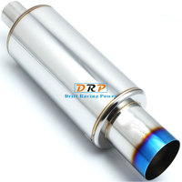 Car styling! Hot!005!Best Selling Modified Car exhaust system 304 Stainless Steel Resonator Muffler Tail to raise hoursepower