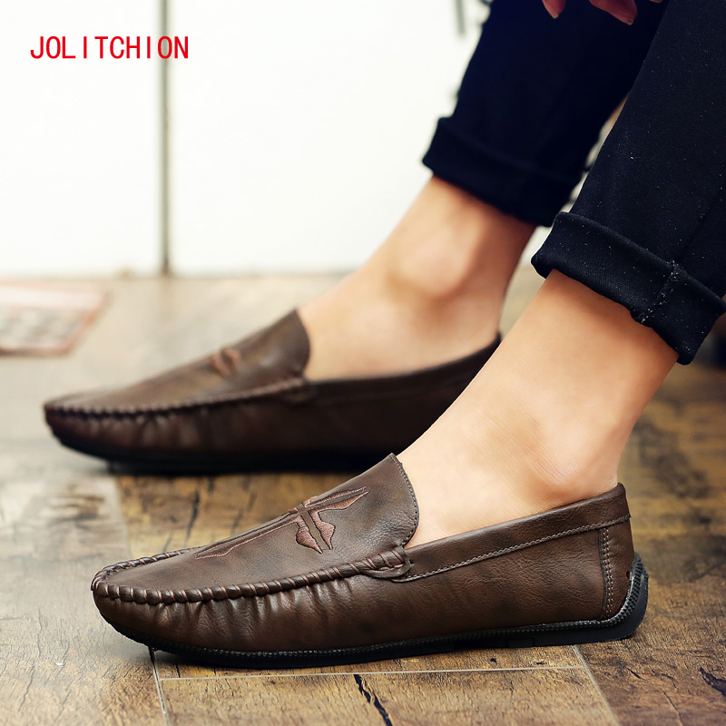 Fashion Men Casual Loafers Moccasins Men Shoes Casual High Quality Pu Leather Breathable Slip On Boat Shoe Men Chaussures Hommes