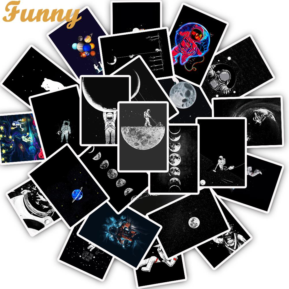 25Pcs/Lot Space Astronaut Starry Sky PVC Stickers For Laptop Motorcycle Skateboard Luggage Decal Toy Sticker