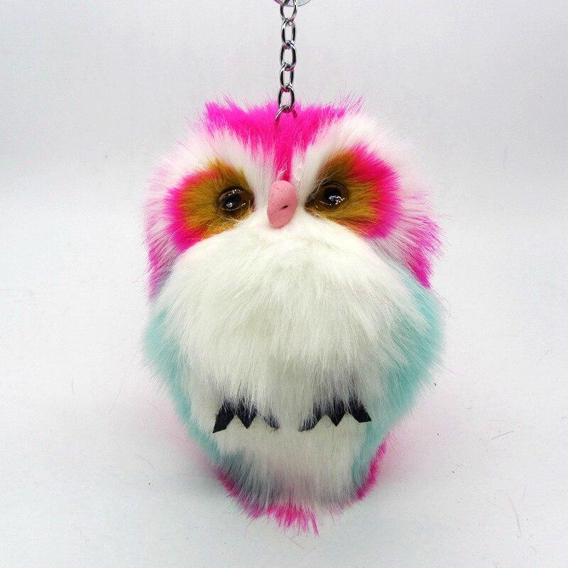 15cm Cute Fluffy Owl Keychain Amp Pendant Key Holder Faux