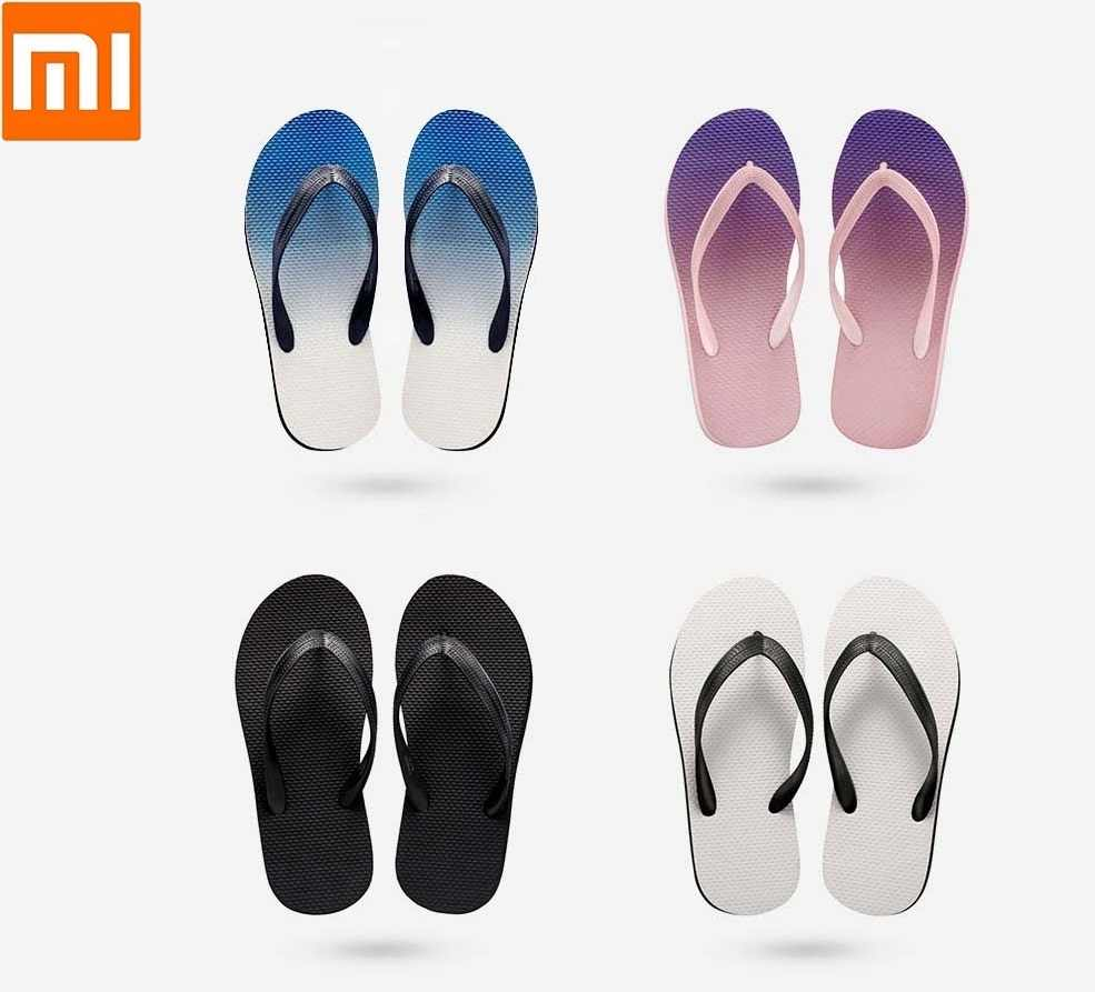 c4651f08685 Xiaomi Couple models flip-flops Lightweight simple to wear casual pinch  home beach sandals slippers