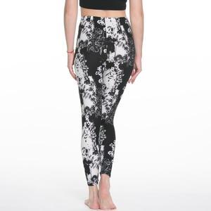 Image 5 - 女性のレギンススリムデジタル印刷幾何学ストライプ新レギンス春夏大サイズファッション女性