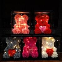 40cm Rose Bear Wedding Party Decoration Valentine's Day Gift Cute Cartoon Super Girlfriend Kid Gift Love Bear Dolls Present