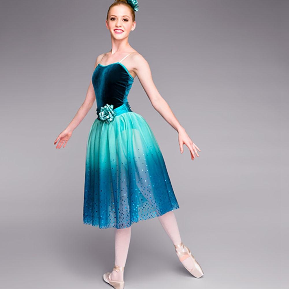 Beauty Ballet Dance Dresses For Girl Blue Color Tutu