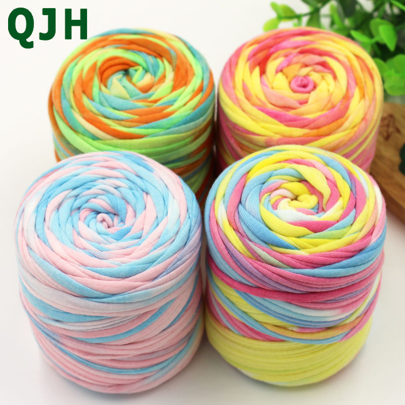 Multicolor 150g/ball  45 Meters Hand Knitting Soft Cloth Yarn,Candy-colored Crochet Weaving Handbags&cushions Yarn Thread Craft