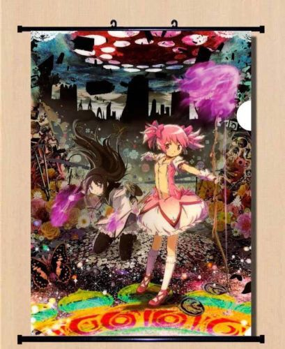 HOME Decor Game Anime Poster Wall Scroll ~ yande 229424 akemi homura dress magic