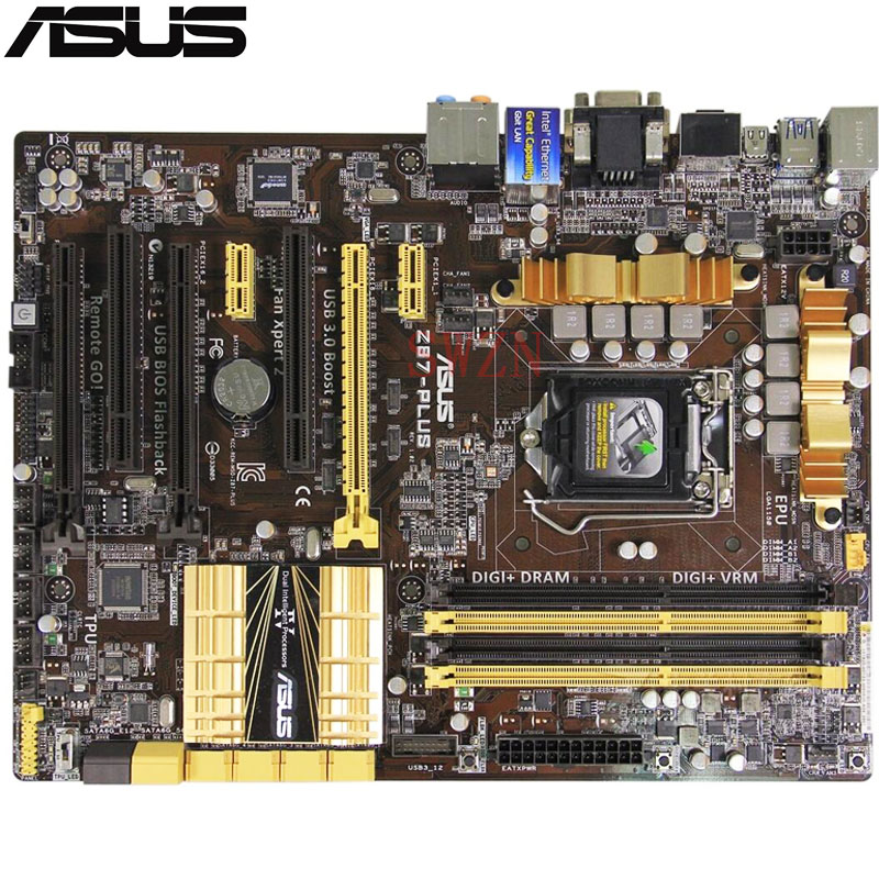 original Used Desktop motherboard For ASUS Z87-PLUS Z87 Support LGA1150 I7 I5 I3 DDR3 32GB 8*SATAIII ATX Board asus h87 plus deluxe board 1150 b85 motherboard