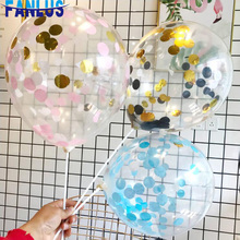 5pcs/lot 12inch Latex Balloons Confetti Birthday Party Decorations Kids Adult Globos Baby Shower Favor Decoration