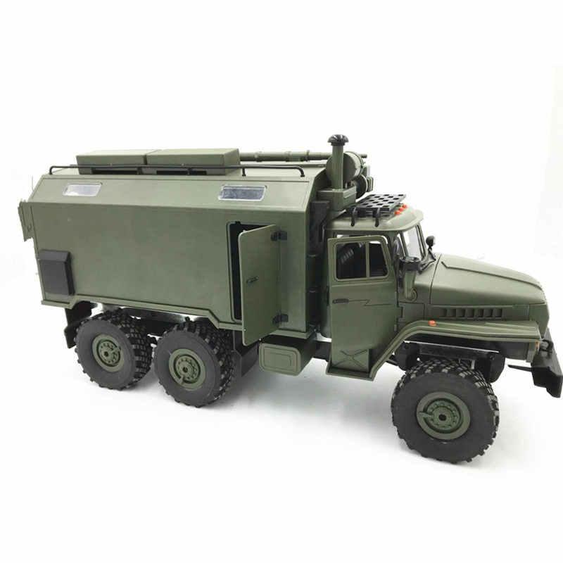 WPL B36 Ural 1/16 2.4G 6WD Rc Auto Militaire Vrachtwagen Rock Crawler Commando Communicatie Voertuig RTR Speelgoed Groen