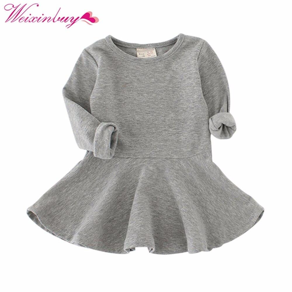 cb2f3b36fd Sukienka dziewczyny Cukierki Kolor Dziewczyny-line Regularne Princess Dress  Zima Dziewczyny Ubrania vestidos