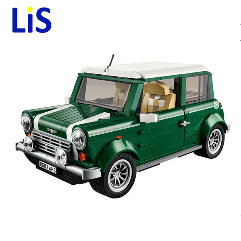 Lis lepin 21002 technic series MINI Cooper Model Building Blocks Kits Bricks Kids Gift Toys Compatible With 10242 lepin 02012 city deepwater exploration vessel 60095 building blocks policeman toys children compatible with lego gift kid sets