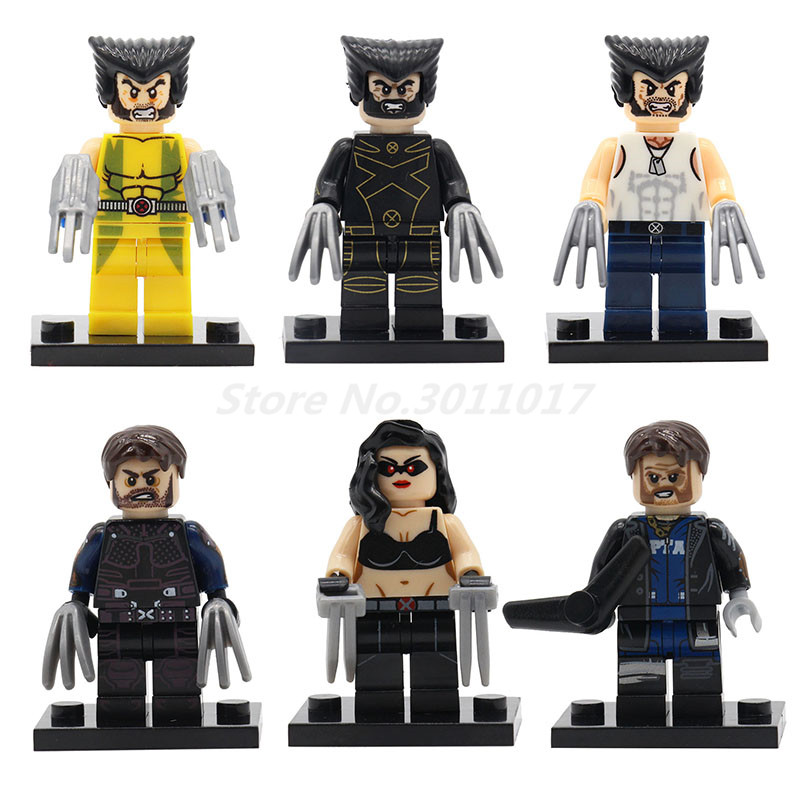 POGO X men Superheroes Logan Laura Wolverine Weapon X Super Hero Building Block Model Toys For