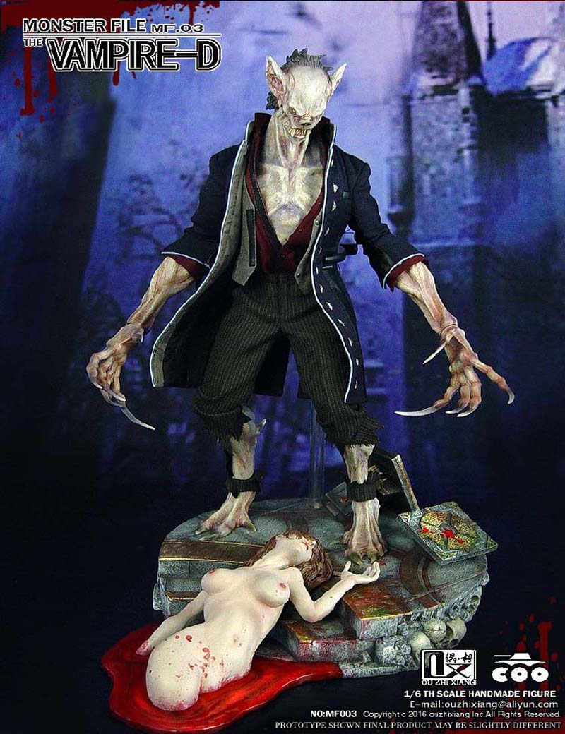 Free Shipping COOMODEL MF003 OUZHIXIANG 1/6    Monster File Seires 3: Vampire Collectible Toys american vampire vol 3