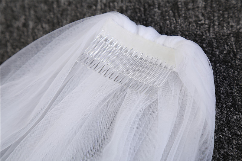 2017 Elegant Wedding Veil 3 Meters Long Soft Bridal Veils With Comb One-layer Ivory White Color Bride Wedding Accessories 6