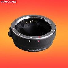 Adaptador auto focus lens ef-nex para canon eos ef ef-s de lentes para sony e nex fotograma completo a7ii a7 a7r a6000 a7sii NEX-7/6/5