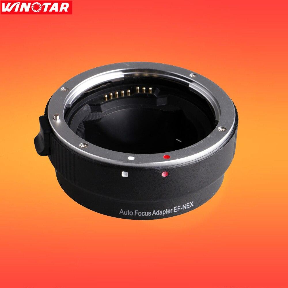 Ef-nex enfoque automático Adaptadores para objetivos para Canon EOS EF ef-s lente a Sony e NEX Marcos a7 a7ii a7r a7sii a6000 nex-7/6/5
