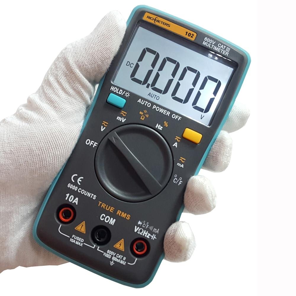 Digital Multimeter RM102 101 409B Multimetro DC AC Voltage Current Meter Resistance Diode Temperature Tester Ammeter Voltmeter