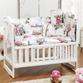 Unisex Dos Desenhos Animados 6 Pçs/set das Crianças Roupa de Cama, alta Qualidade Set Fundamento Do Bebê Bumpers Para Berço, Cama Kit berço Para Recém-nascidos