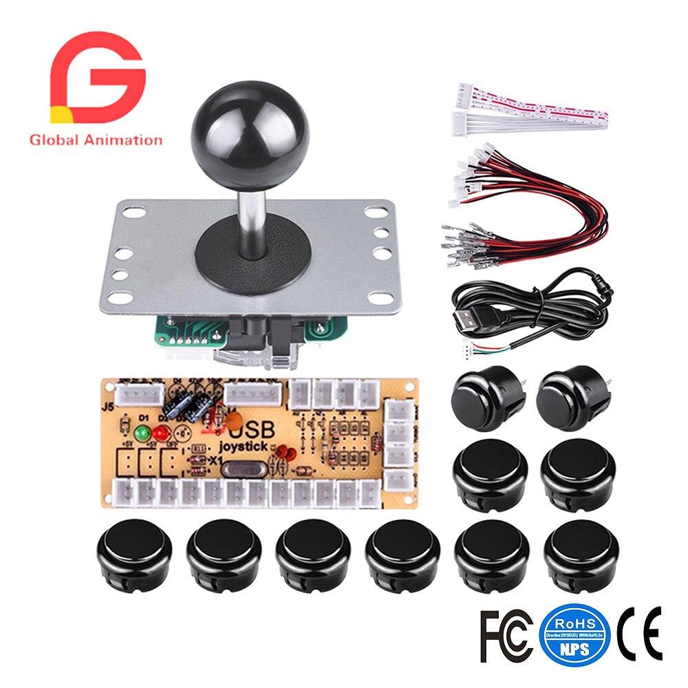 DIY Arcade Spiel Taste Und Joystick Controller Kit Für Rapsberry Pi Und Windows 5, Pin Joystick Und 10 Push Tasten