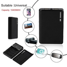 10400 mAh Portable Size 4*18650 Battery External Power Bank Mobile Phone Battery Charger Suitable For iPhone