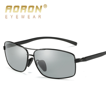9082e71ffb 2018 AORON gafas fotocromáticas polarizadas decoloración gafas HD masculino  antideslumbrante conducción gafas Marca Diseño gafas