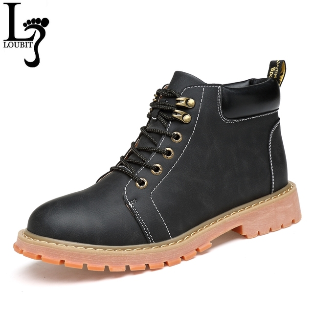 9a11d5bc69 38-47 Plus Size Corte De Alta Moda Botas de Inverno Dos Homens Casuais de
