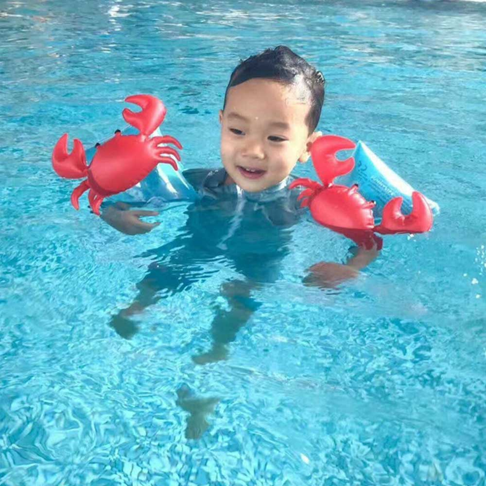 1 Pair PVC Baby Arm Swimming Ring Child Inflatable Pool Float Swimming Arm Ring Safety Training Swimming Circle Float Ring J11