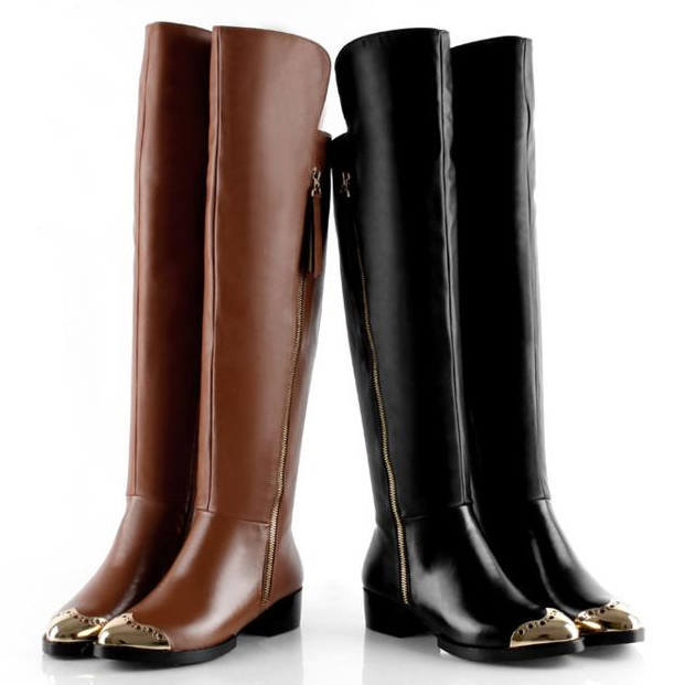2014-women-thigh-high-boots-gold-metal-toe-black-over-the-knee-boots-zippers -thick-heel.jpg